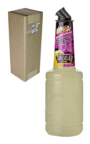 Finest Call Premium Orgeat Syrup Drink Mix, 1 Liter Bottle (33.8 Fl Oz), Individually Boxed