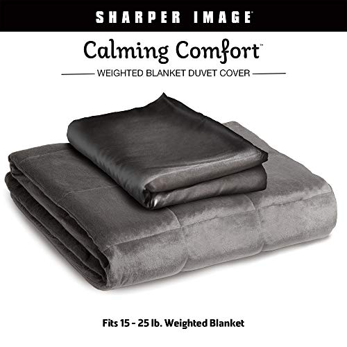 Allstar Innovations Calming Comfort Duvet Fits-15, Blanket, Large-Fits 15, 20, 25 Lbs Bla, Grey