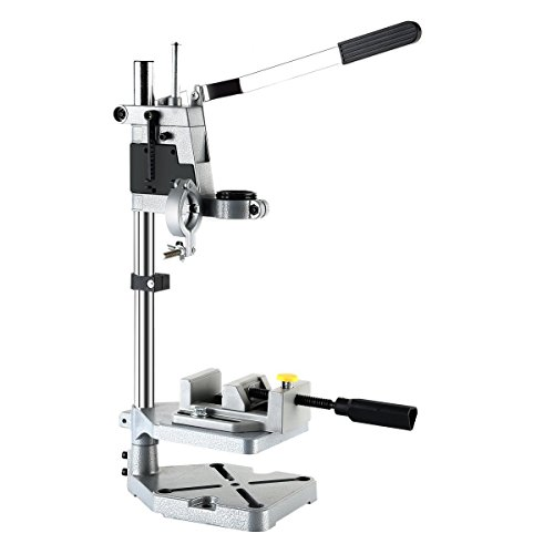 AMYAMY Electric Drill Bench/Drill Press Stand with Drill Press Vise/Drill Stand Rotary Tool Work Station Floor Repair Tool Clamp for Drilling,drill Press Table,Drill Holder (Size-Cast iron base) by AMYAMY