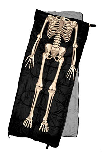 REVALCAMP Lightweight Sleeping Bag – Skeleton – Indoor & Outdoor use. Great for Kids, Teens & Adults. Ultra Light and Compact Bags are Perfect for Hiking, Backpacking, Camping & Travel.