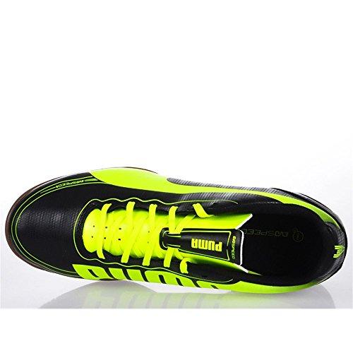 Puma evoSPEED 5.2 IT - Zapatos de fútbol de material sintético hombre negro/amarillo