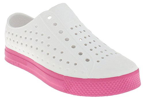 Capelli New York Injected Girls Slip On Sneaker White 3/4
