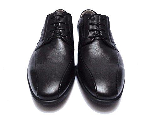 Chaussures En Cuir Uomo Nero Giardini P705111u Classique De La Lumière En Caoutchouc De Fond Num.