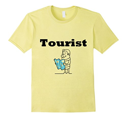 Mens Tourist T-Shirt For Family Men, Women,Teens,Kids,Boys, Girls Medium Lemon