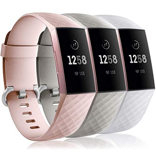 3 Mallas para Reloj Fitbit Charge 3/4 Small SG - PS - W