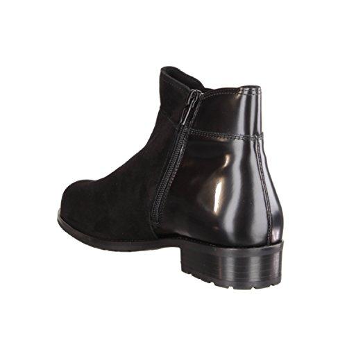 Semler Zara Z21483-001- Damenschuhe bequeme Stiefel-Stiefeletten, Schwarz, leder (samt-chevro/brush), absatzhöhe: 25 mm