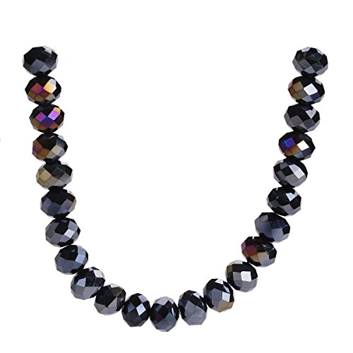 500Pcs 3mm 4mm 6mm 5040# Faceted Loose Rondelle Crystal Glass Beads Spacer Lot Colors U Pick (4mm, Black AB)