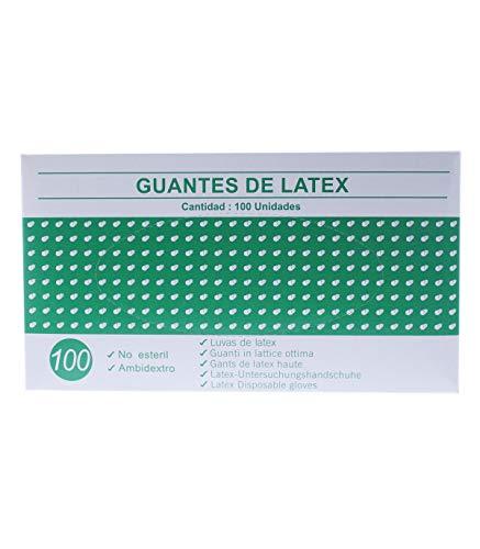 Guantes de latex caja de 100U (Pequeno) Blanco o Azul