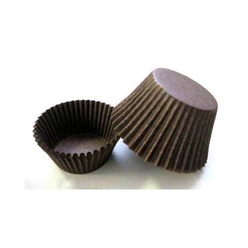 "Novacart Brown Baking Cup (2"" Bottom x 1-1/4"" High, Case of 17,000)"