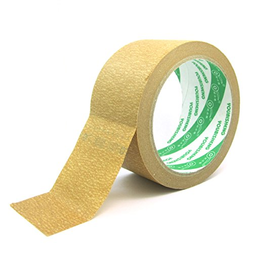 WINGONEER 27 yards Mask Masking Tape for Indoor and Outdoor Width 50mm - Brown by WINGONEER®