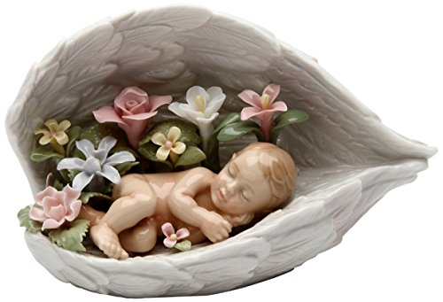 Cosmos Gifts 20846 Baby in Guardian Angel Wings Ceramic Figurine, 6-Inch ()