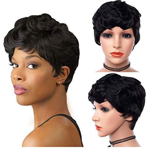 BEVER African American Wig Short Curly Wigs Black