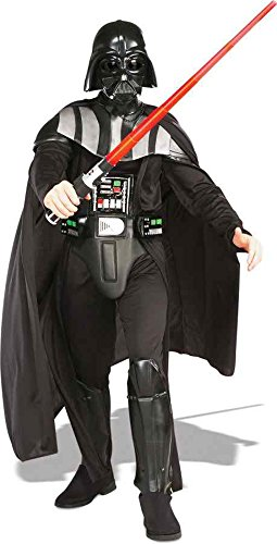 UHC Men's Deluxe Darth Vader Star Wars Theme Party Fancy Costume, XL (Deluxe Adult Darth Vader Costumes)