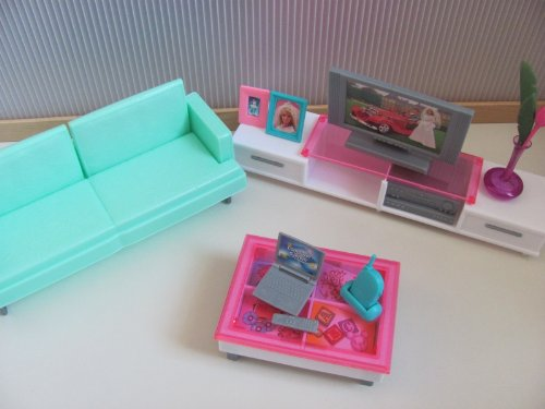 Barbie Size Dollhouse Furniture- Family Room
