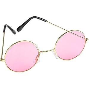 Rhode Island Novelty World John Lennon Style Sunglasses, Pink