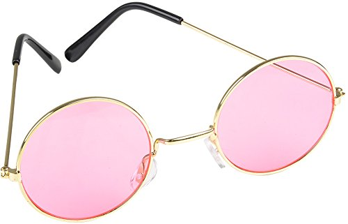 Groovy Girl Costume (Rhode Island Novelty World John Lennon Style Sunglasses, Pink)