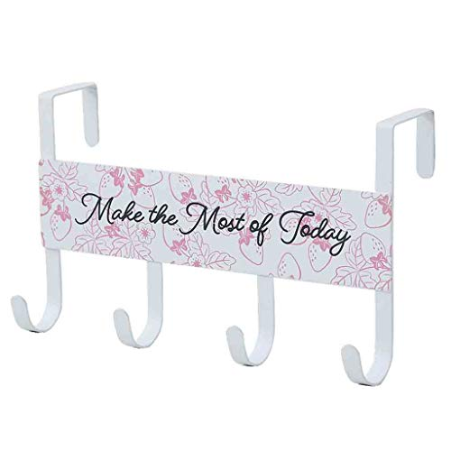 Winsummer Over Door Hook 4 Coat Hooks Pegs Behind The Door Organizer Clothes Rack Office Cubicle Purse Hanger