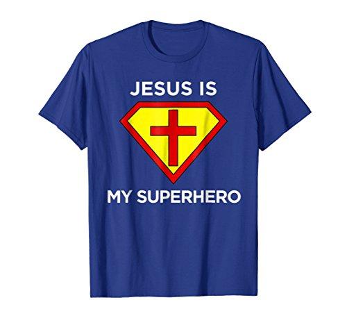 Mens Jesus Is My Superhero Christian Fun Religious
