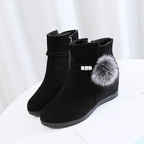 Invierno Cuña rojo Moda Cómodo 35 40 Tacon Mujer Plataforma Logobeing Negro  Altas De Botas Calzado xy123 Zapatos negro marrón Martin Botines YvHxE7 debc087b9d4cd