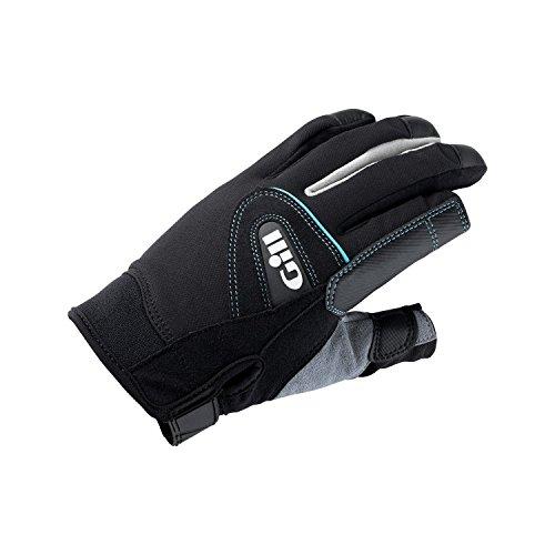 Gill 2017 Ladies Championship Long Finger Sailing Gloves,Black Gray,Small