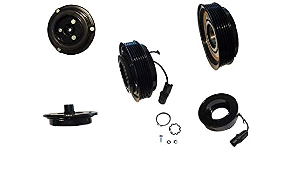 Amazon.com: 2008 Hyundai Santa Fe 2.7L VS18M AC A/C Compressor Clutch Kit (PULLEY, BEARING, COIL, PLATE): Automotive