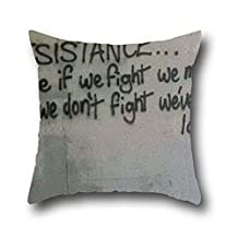 Goling BBay Anarchy Graffiti Cotton Square Decor Throw Pillow Case Oil Painting ( 18*18 )