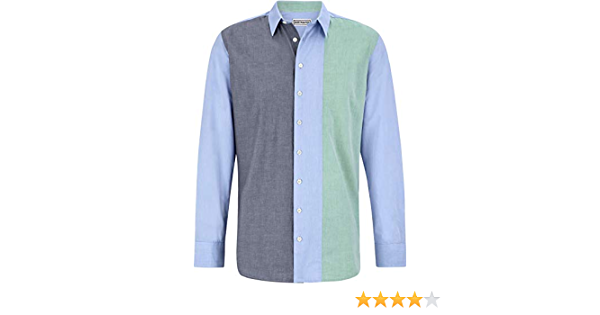 Camisa para hombre Master Chambray, color azul y verde (manga ...
