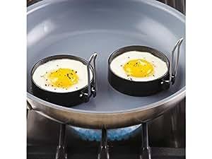 CHEFS Set of 2 Nonstick Round Egg Rings