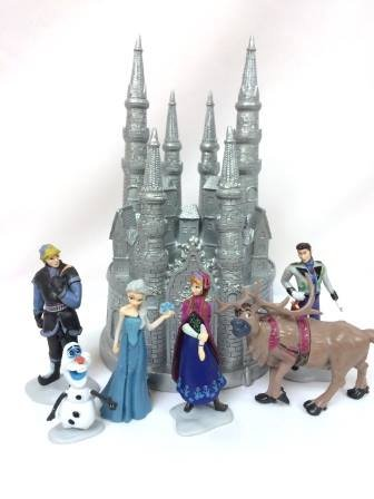 Amazoncom Frozen Cake Topper or Centerpiece Castle with 6