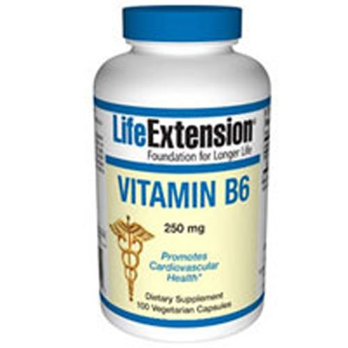 Vitamin B6, 250 mg, 100 Vcaps by Life Extension (Pack of 5)