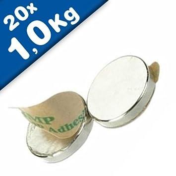 Neodym Magnete 6 x 1 mm Supermagnete hohe Haftkraft Scheibenmagnet N35 magnets