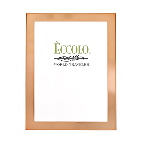 Eccolo World Traveler Copper Photo Frame, 8 x 10-Inch, Simple Elegance
