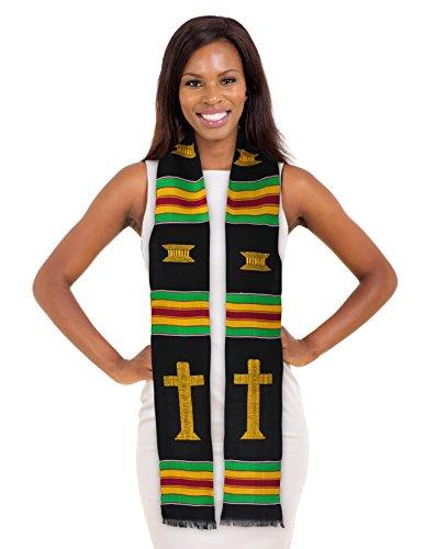Christian Kente Cloth Graduation Stole