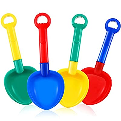 4 Pieces Plastic Sand Shovel Beach Sand Shovel Colorful Toy Scoop Shovels for Beach and Sand Summer Outdoor Supplies: Toys & Games [5Bkhe1103558]