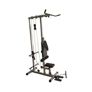 Valor Fitness CB 12 Plate Loading Lat Pull Down Machine with Lower T Bar