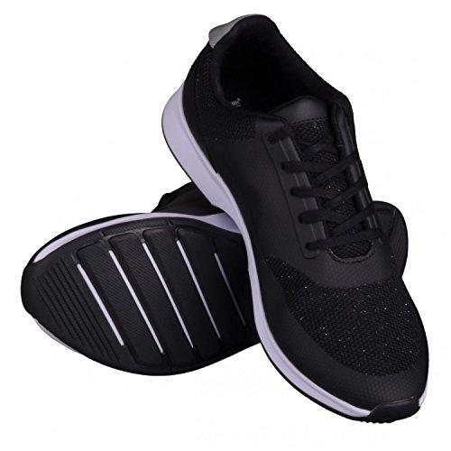 Lacoste Chaumont Lace Damen Sneaker Schwarz Black | Metallic