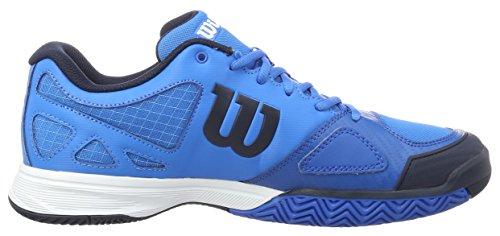Wilson Rush Evo, Zapatillas de Tenis Para Hombre, Azul (Brilliant Blue/Navy Blazer/Imperial), EU 45 1/3