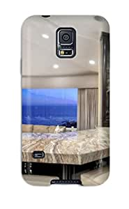Galaxy S5 Case Cover - Slim Fit Tpu Protector Shock Absorbent Case (sweeping Views Unique Finishes In Laguna Beach Kitchen)