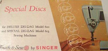 Touch & Sew by Singer Special Discs for Deluxe Zig-Zag Model