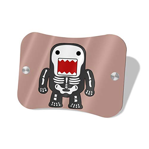 Anonymous Guest Door Sign Funny Cool Domo-kun Skeleton Hanging Door Sign for Office Commerical Use ()