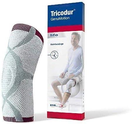 Tricodur GenuMotion Aktiv Bandage weiß/grau/ rot Gr. XL, Kniebandagen