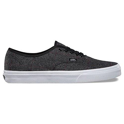 Vans Authentic Sneakers Tweed Black True White Mens 6 d7bed0b8063