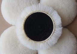 Wool Buffing Pad Car Dremel Detailing Polishing Backing Buffer (7\