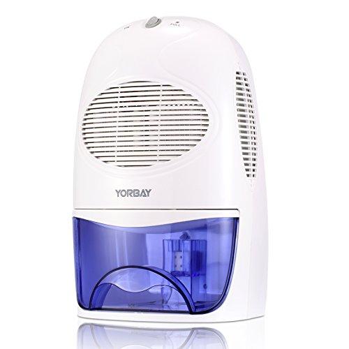 Yorbay Luftentfeuchter (2000ml Wassertank, 500ml pro Tag, Raumgröße ca.15-20 m²)elektrisch Raumentfeuchter gegen Feuchtigkeit, für Schlafzimmer, Wohnzimmer, Keller, Garage usw