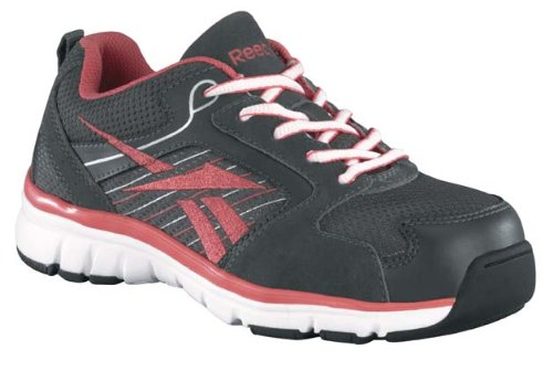 Reebok Work Women's Anomar RB451 Work Shoe,Grey/Mauve,10 W US by Reebok Work