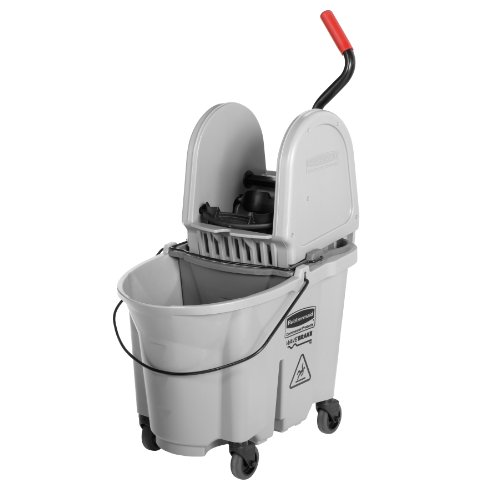Rubbermaid Commercial 1863899 Executive Series WaveBrake Down-Press Mop Bucket, Gray by Rubbermaid Commercial Products