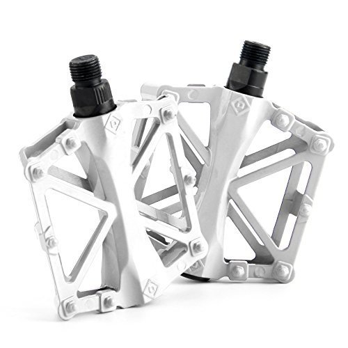 Aluminum Road Bike (Chollima Aluminum Alloy Bicycle Pedals Road Bike Pedals for BMX MTB Cycling 9/16 Inch White)