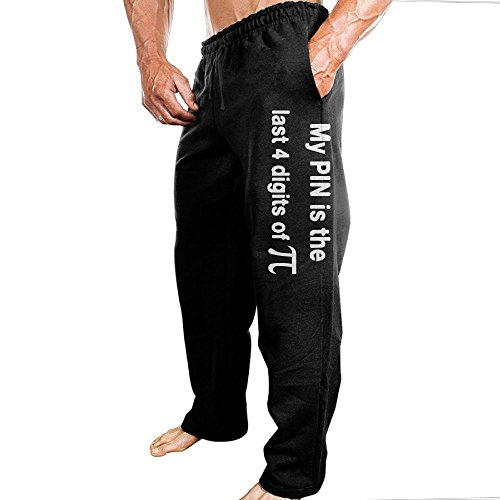 Price comparison product image SuperBlu Mens My Pin Is The Last 4 Digits Of PI SoftRowing Vintage Sweatpants Leisure Wear XXL Black