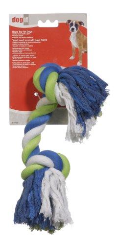 Hagen 72384 Dogit Striped Cotton Rope Bone, Multi, Extra Large, My Pet Supplies