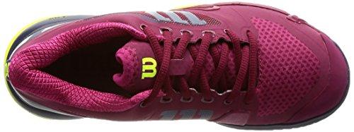 Wilson Haasten Pro 2,5 Dames Tennisschoen Biet Rood / Avond Blauw / Gele Veiligheid